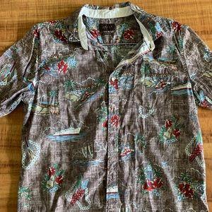 Jachs purple floral aloha shirt